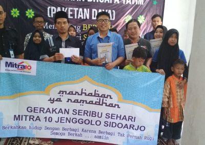 Bantuan Uang tunai dari Mitra 10 Sidoarjo