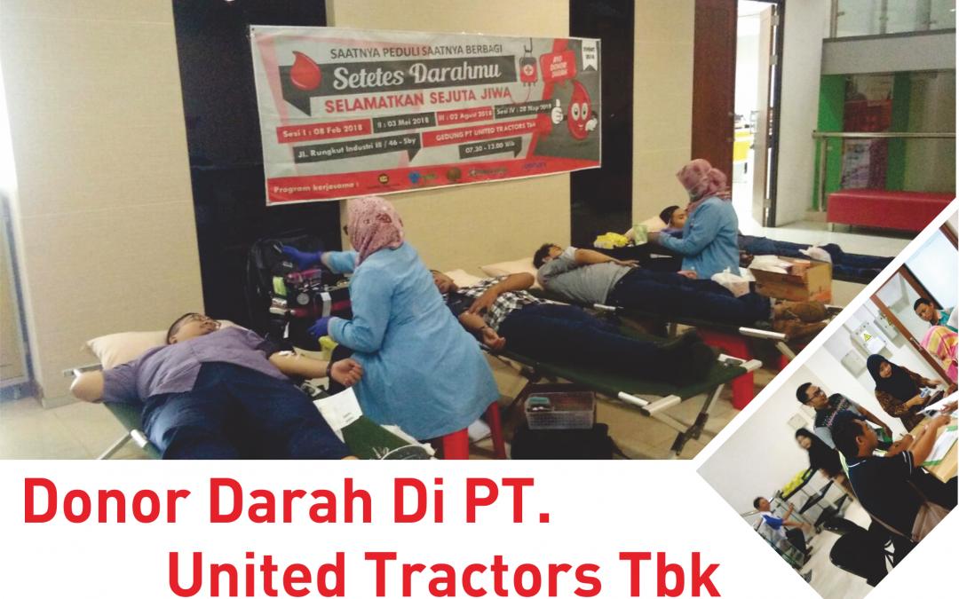 Donor Darah Di PT. United Tractors